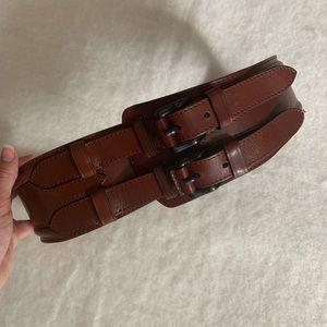 Burberry Prorsum Leather Equestrian  Belt